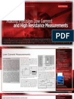 Making Precision Low Current and High Resistance Measurements