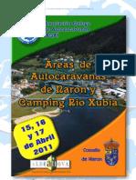 PROGRAMA INAUGURACIÓN ÁREAS NARÓN Y RÍO XUBIA (Ferrol), A Coruña , 15, 16 y 17- Abril- 2011