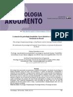 A atuação da psicologia hospitalar, breve histórico e seu processo de