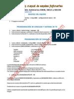 Carga y edición manual de canales S808-S810B