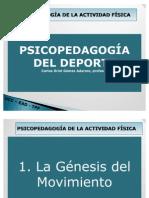 GÉNESIS DE LA ACTIVIDAD FÍSICA