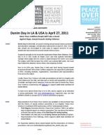 Denim Day 2011 Media Advisory