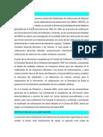 CLASIFICACIÓN DE INSTITUCIONES DE SALUD.
