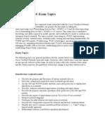 (640-802) CCNA Exam Topics