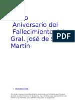 Acto Aniversario del fallecimiento del Gral Jose de San Martin