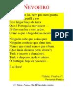 POESIA Fernando Pessoa 'Nevoeiro'