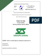 Rapport de Stage Saidal-2