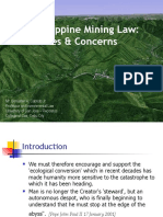 Philippine Mining Law. Issues and Concerns