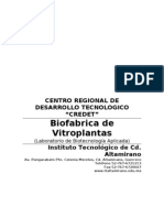 Biofabrica de Vitroplantas Ficha tecnica 2011