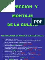 INSPECCION Y MONTAJE CULATA