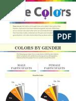 Las preferencias de los colores según el sexo