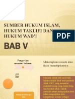 BAB V SUMBER HUKUM ISLAMV