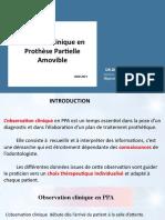 01. Examen Clinique De L'Edenté Partiel