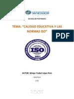 CALIDAD EDUCATIVA Y NORMAS ISO