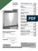 frigidaire FDB1050RES0 use care manual