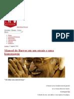 Manoel de Barros em um ensaio e uma homenagem