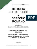 Historia del Derecho y Derecho Romano UCE 2011
