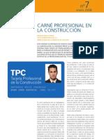CARNET PROFESIONAL DE LA CONSTRUCCION