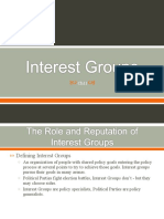 Ch. 11 - Interest Groups (Class)