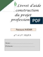 Livret d'Aide à La Construction Du Projet Pro