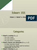 Islaam 101 Belief in Allaah