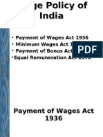 Wage Policy of India