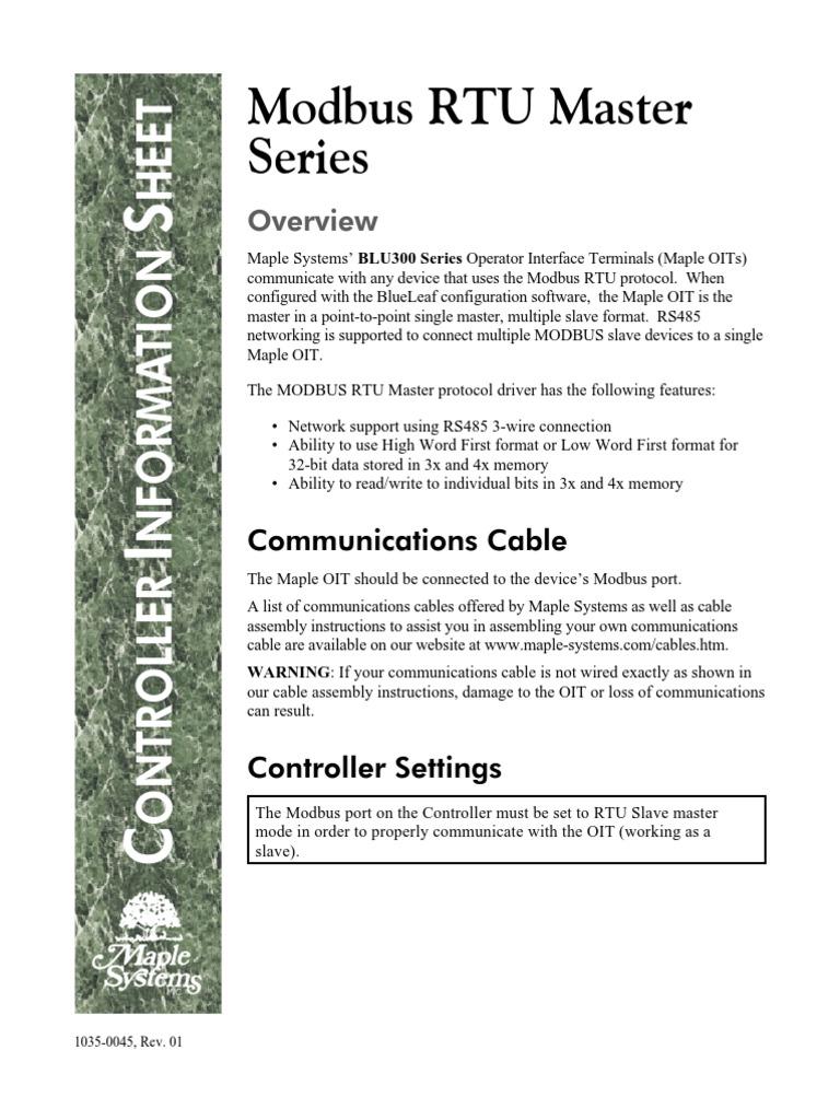 modbus master | Computer Engineering | Computer Architecture