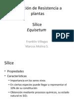 Bio-sílice Inductor de resistencia.