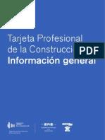 INFORMACION GENERAL CARNET PROFESIONAL DE LA CONSTRUCCION