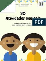 30 Atividades Ed. Infantil - NOTAS E INSTRUMENTOS MUSICAIS