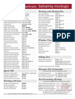 Balsamiq Keyboard Shortcuts