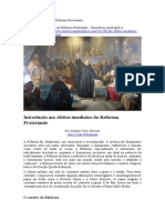 Os Efeitos Imediatos Da Reforma Protestante