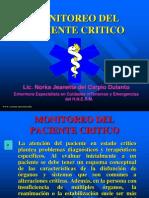 Monitoreo del Paciente Critico