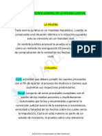 BOLILLA 11 - TEORIA GENERAL DE LA PRUEBA JUDICIAL