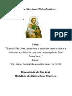Cantos da Festa de São José 2020