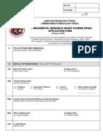Borang Permohonan FRGS