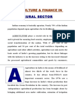 Agriculture and Finance in Rural Sector