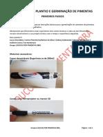 Manual para plantio e germinação de pimentas