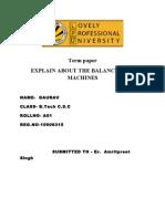 Ao1 mechanical term paper