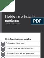 Hobbes e o estado moderno