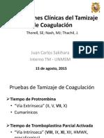 Implicaciones Clínicas del Tamizaje de Coagulación
