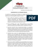 Comunicado AFGAP a la Opinión Pública 04-10-2021