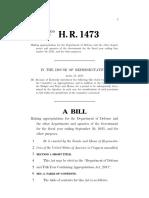 H.R. 1473 - Budget Bill Fiscal Year 2011