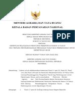 Daftar Isi Permen ATR KBPN No 19 tahun 2021 tentang Pengadaan Tanah