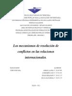Derecho internacional - mecanismo de resolución de conflictos