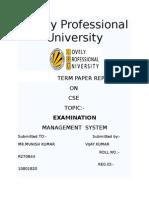 examination management system