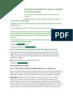 TARIFAS ESPECIALES PARA PRODUCTOS DERIVADOS DEL PETROLEO Y CERVEZAS