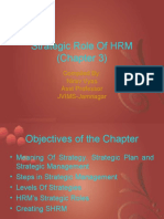 HRM - Role of Strategic HRM