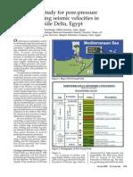 Pore Pressure Offshore Nile Delta