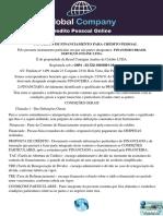 CONTRATO PESSOAL GLOBAL COMPANY SERVIÇOS ONLINE LTDA